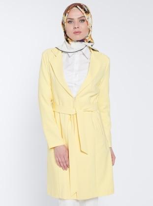 Şal Yaka Ceket - Sarı