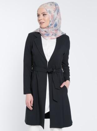 Şal Yaka Ceket - Siyah