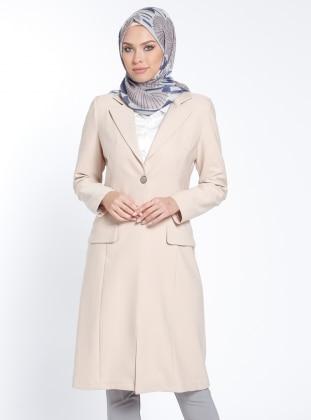 Şal Yaka Ceket - Taş