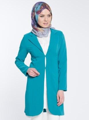 Şal Yaka Ceket - Yeşil
