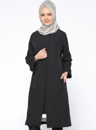 Tek Düğmeli Ceket - Siyah