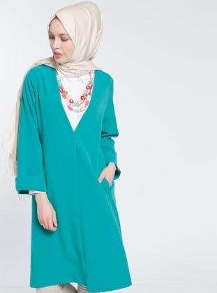Tek Düğmeli Ceket - Yeşil