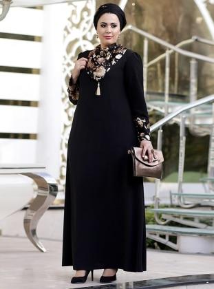 Abaya Abiye Elbise - Siyah Gold