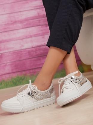 Ayakkabı Havuzu Abiye Ayakkabı - Beyaz