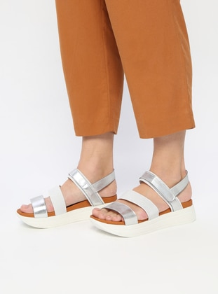 Silver tone - Sandal - Evening Shoes