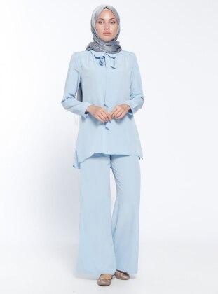 Bluz&Pantolon İkili Takım - Bebe Mavisi