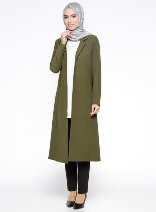 Khaki - Shawl Collar - Topcoat