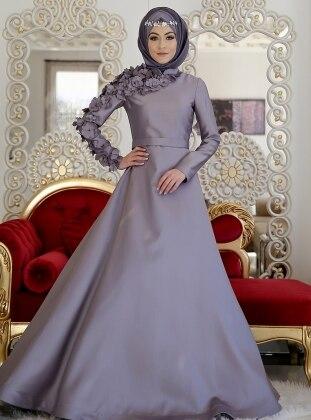 Lilas Abiye Elbise - Gri