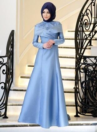 Melis Abiye Elbise - Mavi