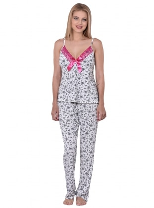 I&D LINGERIE Pijama Takımı - Ekru - I&D LINGERIE