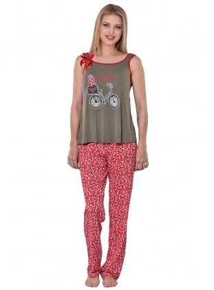 Pijama Takımı - Kırmızı - I&D LINGERIE