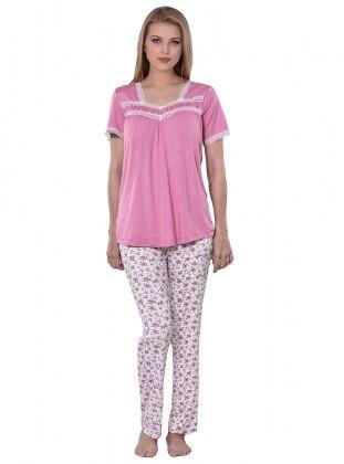 Pijama Takımı - Pembe - I&D LINGERIE