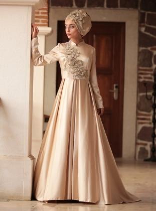 Bala Abiye Elbise - Gold Nurbanu Kural