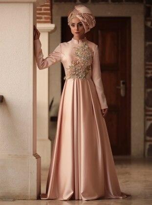 Bala Abiye Elbise - Pudra