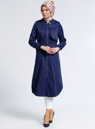 Navy Blue - Unlined - Topcoat