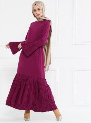Piliseli Elbise - Vişne