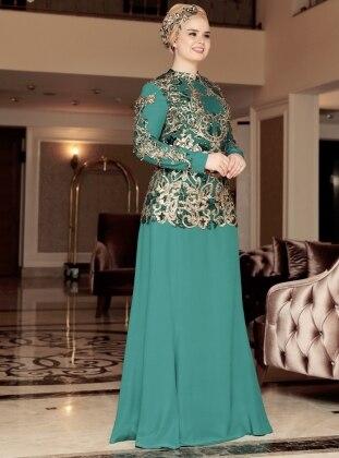 Şehrazat Abiye Elbise - Yeşil