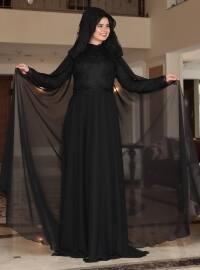 Saliha Angel Abiye Elbise - Siyah - Saliha