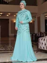 Dilşad Abiye Elbise - Mint Yeşili - Saliha