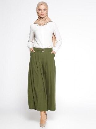 Pantolon Etek - Haki BÜRÜN