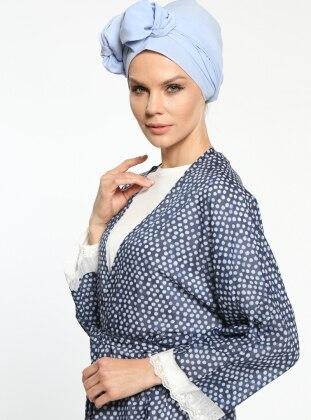 Meryem Acar Puantiyeli Kimono - Lacivert