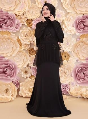 Rüya Abiye Elbise - Siyah Gamze Özkul