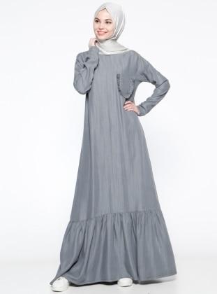 Tensel Elbise - Gri