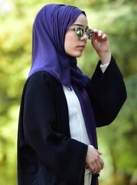 Chiffon - Plain - Purple - Shawl