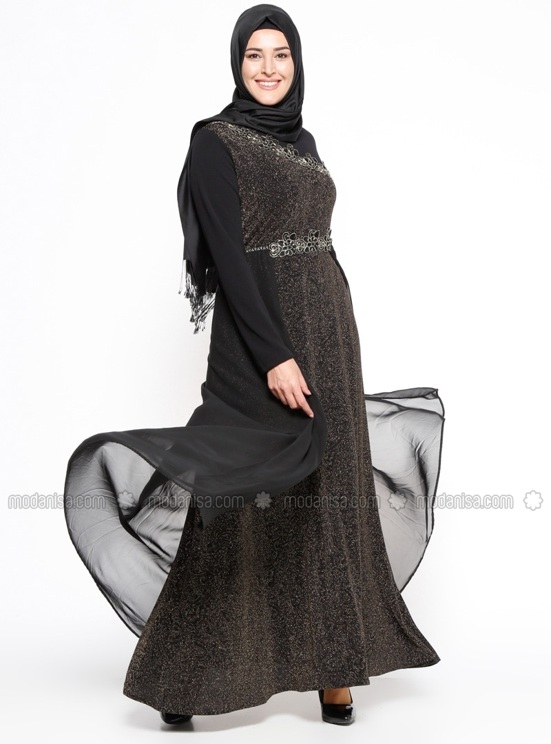 Long dress muslimah plus size