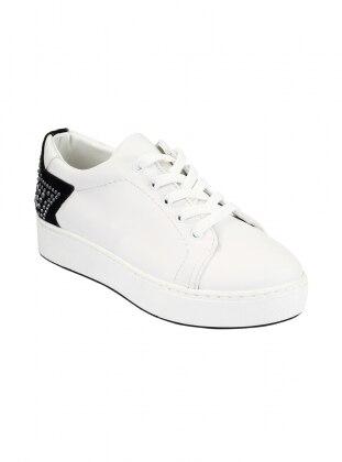 Ayakkabı - Beyaz Siyah - Zenneshoes Ürün Resmi