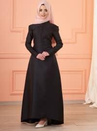 Mevra Lola Abiye Elbise - Siyah - Mevra