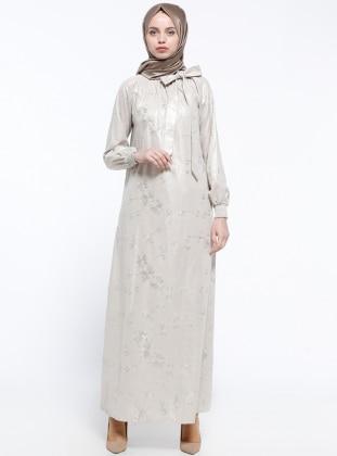 Gipeli Elbise - Krem