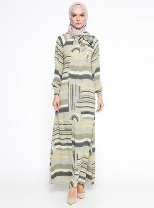 Gipeli Elbise - Yeşil