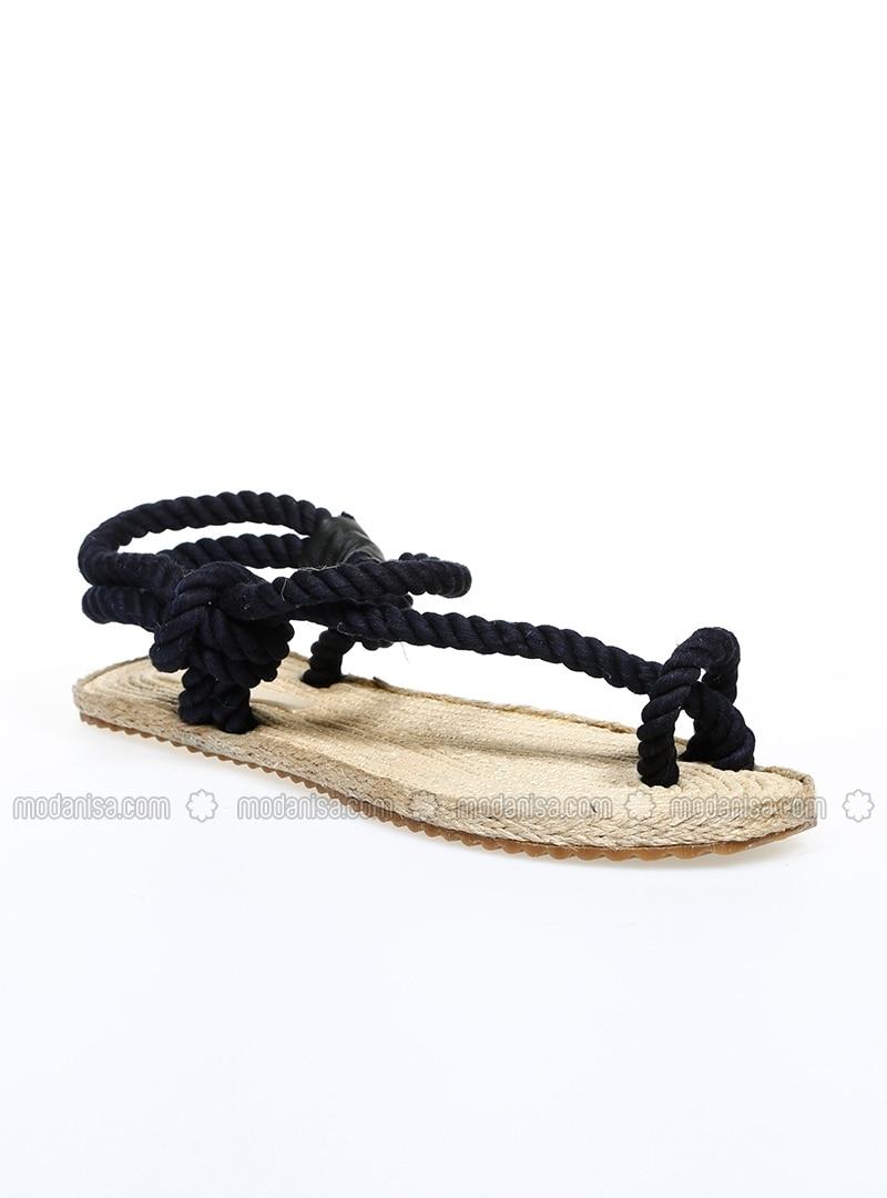 Navy Blue - Sandal - Sandal