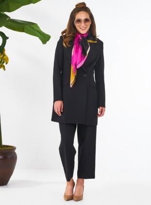 Roko Ceket&Pantolon İkili Takım - Siyah Mishela Noor