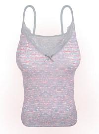 Pink - Gray - Undershirt