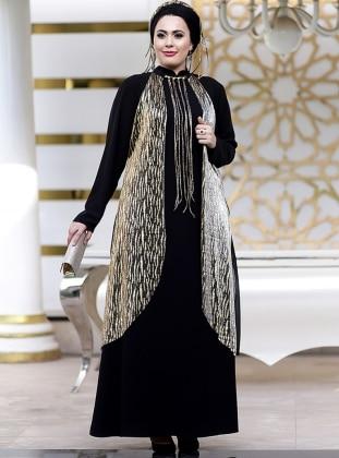 Aysima Abiye Elbise - Siyah Gold