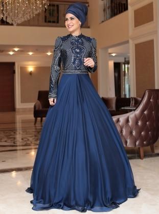 Sahra Abiye Elbise - Lacivert
