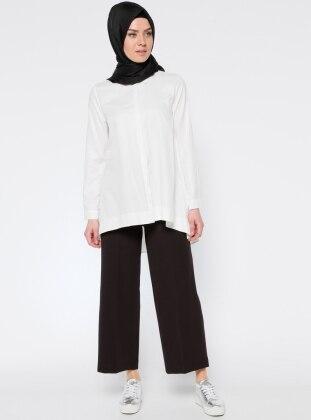 ALLDAY Bluz&Pantolon İkili Takım - Ekru Siyah