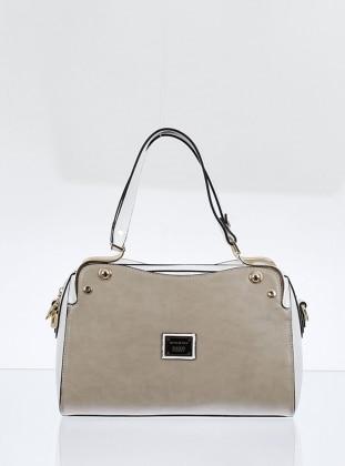 Çanta - Bej Beyaz