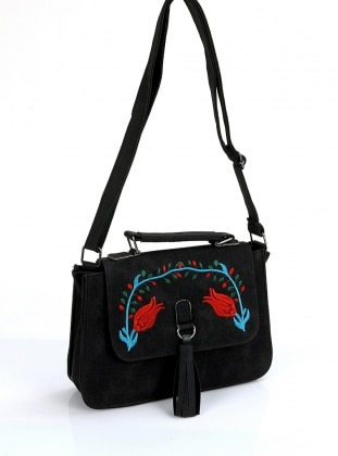 Çanta - Siyah Nakışlı