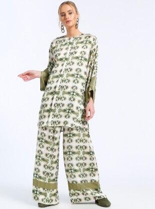 Green - Multi - Pants
