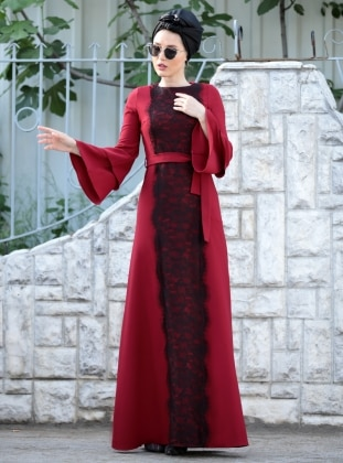 Matmazel Elbise - Bordo