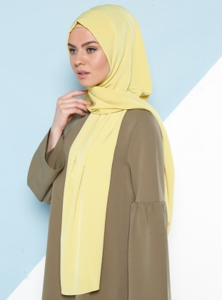 Green - Plain - %100 Silk - Shawl