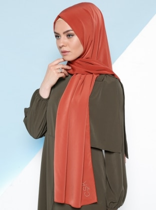 %100 Silk – Plain – Orange – Shawl – Csk Unique