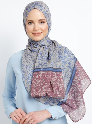 Purple - Multi - Printed - Cotton - Shawl - Şal