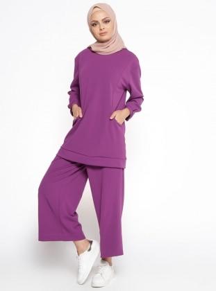 Tunik&Pantolon İkili Takım - Mor Belle Belemir