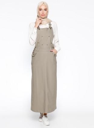 Salopet Elbise - Açık Haki Veteks Line