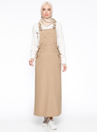 Salopet Elbise - Camel Veteks Line