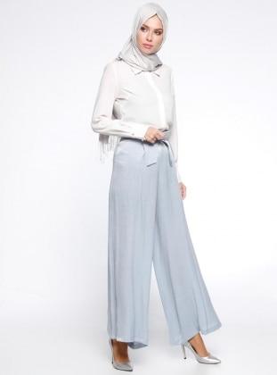 Bol Paça Pantolon - Mavi